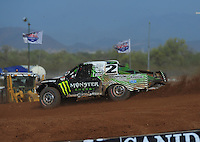 Apr 16, 2011; Surprise, AZ USA; LOORRS driver Casey Currie (2) during round 3 at Speedworld Off Road Park. Mandatory Credit: Mark J. Rebilas-.