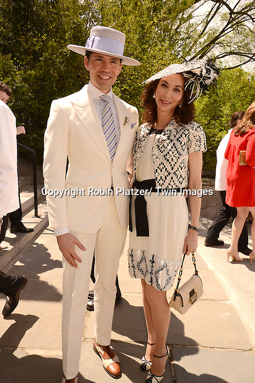Di Mondo and Fe Fendi attends the 32nd Annual Frederick Law Olmsted Awards Hat Luncheon given by The Central Park Conservancy on May 7,2014 in Central Park in New York City, NY USA.
