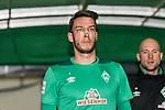 08.03.2019, Weserstadion, Bremen, GER, 1.FBL, Werder Bremen vs FC Schalke 04<br /> <br /> DFL REGULATIONS PROHIBIT ANY USE OF PHOTOGRAPHS AS IMAGE SEQUENCES AND/OR QUASI-VIDEO.<br /> <br /> im Bild / picture shows<br /> Jiri Pavlenka (Werder Bremen #01) kommt mit Nasenpflaster zum Aufw&auml;rmen, <br /> <br /> Foto &copy; nordphoto / Ewert