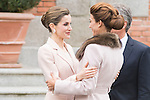 Queen Letizia and Juliana Awada during meeting with president of Argentinian Republic, Sr. Mauricio Macri and Sra Juliana Awada at Real Palace in Madrid, Spain. February 19, 2017. (ALTERPHOTOS/BorjaB.Hojas)