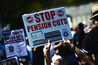 Teamsters protest pension cuts