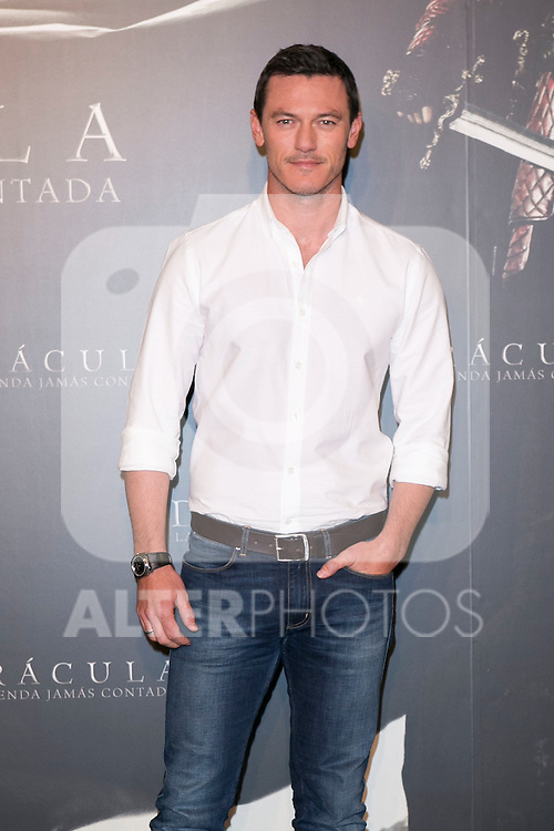 "Luke Evans attend the photocall of the presentation of the Movie """"Dracula Untold"" at Villamagna Hotel in Madrid, Spain. October 21, 2014. (ALTERPHOTOS/Carlos Dafonte)"
