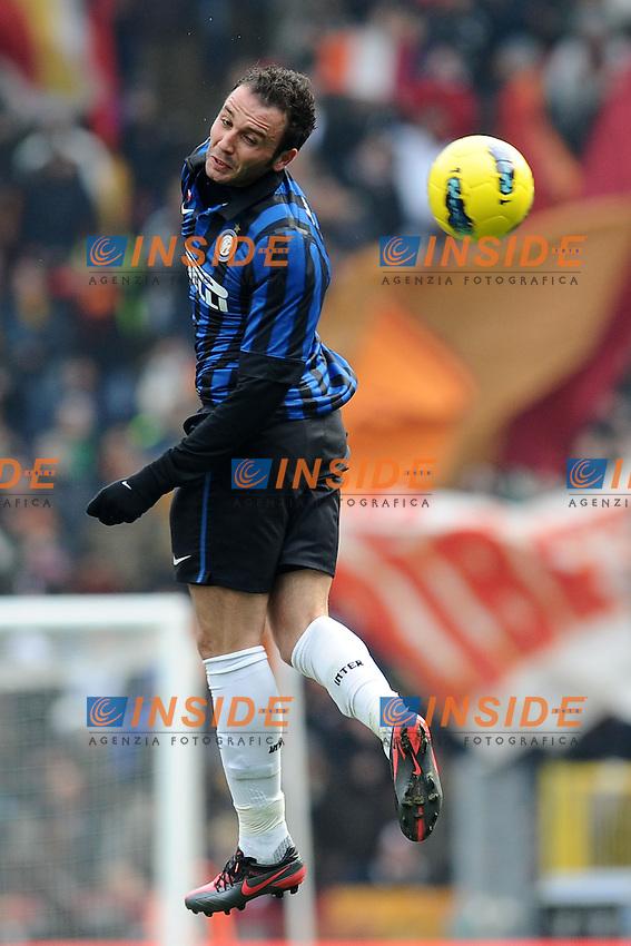 Giampaolo Pazzini (Inter).Roma, 05/02/2012 Stadio Olimpico.Football Calcio 2011/2012 .Roma vs Inter.Campionato di calcio Serie A.Foto Insidefoto Antonietta Baldassarre