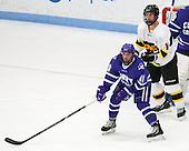 Dominic Puntillo (Curry - 11), Jordan Bourgonje (WIT - 16) - The Wentworth Institute of Technology Leopards defeated the visiting Curry College Colonels 1-0 on Saturday, November 23, 2013, at Walter Brown Arena in Boston, Massachusetts.