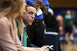 DURHAM, NC - NOVEMBER 05: Alaska Anchorage head coach Ryan McCarthy. The Duke University Blue Devils hosted the University of Alaska Anchorage Seawolves on November 5, 2017 at Cameron Indoor Stadium in Durham, NC in a Division I women's college basketball preseason exhibition game. Duke won the game 87-56.