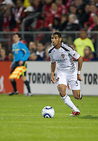 13 April 2011: Los Angeles Galaxy defender Sean Franklin #5 in action during an MLS game between Los Angeles Galaxy and the Toronto FC at BMO Field in Toronto, Ontario Canada..The game ended in a 0-0 draw.