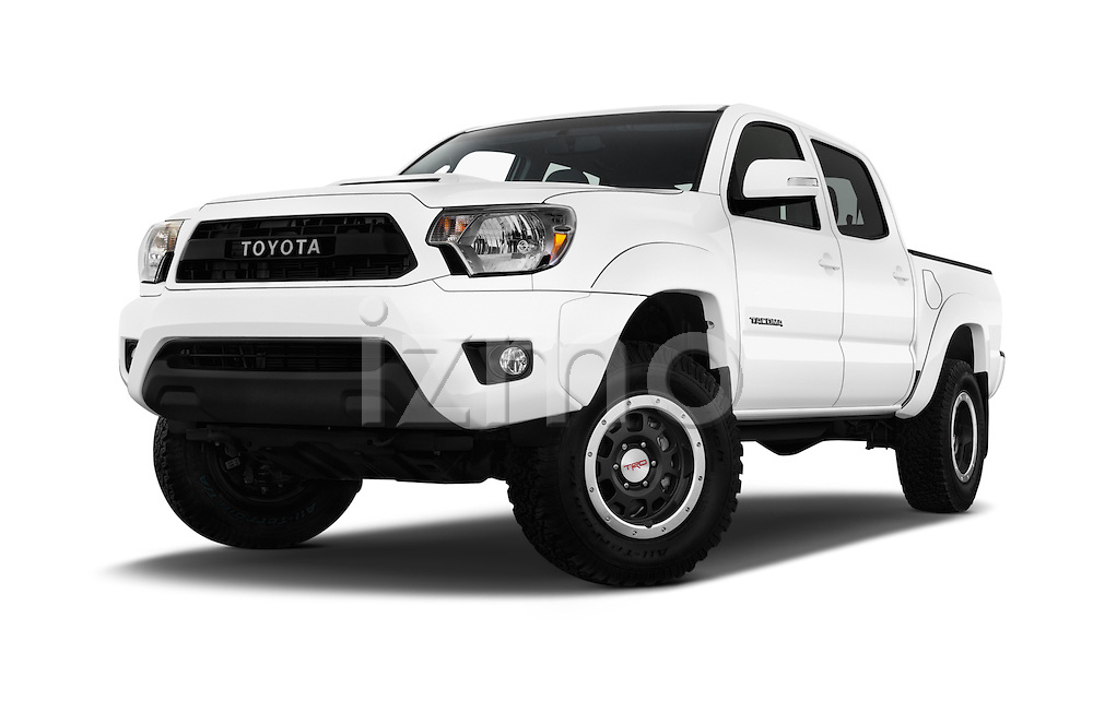 Stock pictures of low aggressive front three quarter view of 2015 Toyota Tacoma TRD Pro 4 Door Pickup Low Aggressive