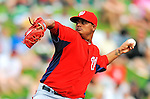 6 March 2012: Washington Nationals pitcher Atahualpa Severino on the mound during a Spring Training game against the Atlanta Braves at Champion Park in Disney's Wide World of Sports Complex, Orlando, Florida. The Nationals defeated the Braves 5-2 in Grapefruit League action. Mandatory Credit: Ed Wolfstein Photo