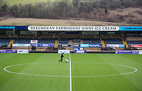 Groundsman at work ahead of the Sky Bet League 2 match between Wycombe Wanderers and Yeovil Town at Adams Park, High Wycombe, England on 14 January 2017. Photo by Andy Rowland / PRiME Media Images.
