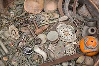 Morocco.  Scrap Metal--a Jeweler's Junk Box.  Ait Benhaddou Ksar, a World Heritage Site.