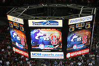 14 December 2006: The scoreboard during Stanford's 30-12, 30-25, 30-15 win against the Washington Huskies in the 2006 NCAA Division I Women's Volleyball Final Four semifinal match at the Qwest Center in Omaha, NE.