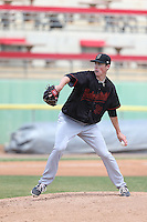 Ryan Yarbrough (39) of the Bakersfield Blaze pitches during a game against the High Desert Mavericks at Mavericks Stadium on May 18, 2015 in Adelanto, California. High Desert defeated Bakersfield, 7-6. (Larry Goren/Four Seam Images)