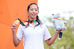 Akiyo Noguchi (JPN), <br /> AUGUST 26, 2018 - Sport Climbing : <br /> Women's Combined Medal Ceremony <br /> at Jakabaring Sport Center Sport Climbing <br /> during the 2018 Jakarta Palembang Asian Games <br /> in Palembang, Indonesia. <br /> (Photo by Yohei Osada/AFLO SPORT)