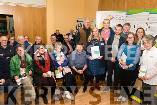 At the launch of the Kerry Sustainable Energy Co-operative green survey & information meeting in Killorglin KCYMS on<br /> Thursday (www.ksec.ie)<br /> Standing Front L-R Ann Marie Fuller, Dara Prunty, Claire Cable, Sylvia Thompson. <br /> Back L-R Gerry Cunnane, Barry Clarke, Tim Leahy & Vanda Barsic.