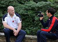 Bagshot, England. Dan Cole of England during the England training and Media session held at Pennyhill Park on November 8, 2012 in Bagshot, England.