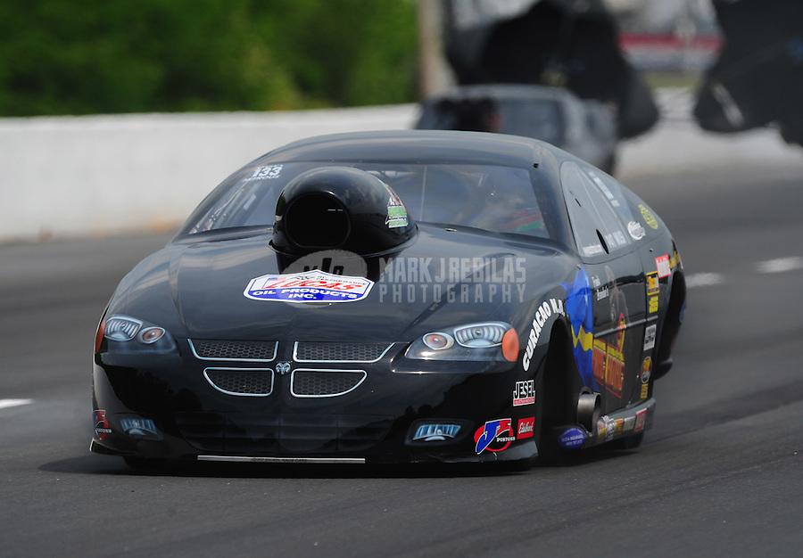 May 13, 2011; Commerce, GA, USA: NHRA pro mod driver Pat Musi prior to crashing during qualifying for the Southern Nationals at Atlanta Dragway. Mandatory Credit: Mark J. Rebilas-