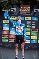 David de la Cruz (ESP/UAE-Emirates) is the Polka Dot Jersey winner / KOM overall leader<br /> <br /> Stage 5: Megève to Megève (154km)<br /> 72st Critérium du Dauphiné 2020 (2.UWT)<br /> <br /> ©kramon