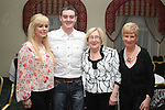 Leanne Hoey, Darren Ryan, Ailish Breen and Winifred Leech at the Charity Event in the Boyne Valley Hotel to raise money for Drogheda Womens Refuge, Drogheda Special Needs and ABACAS....(Photo credit should read Jenny Matthews/www.newsfile.ie)....This Picture has been sent you under the conditions enclosed by:.Newsfile Ltd..The Studio,.Millmount Abbey,.Drogheda,.Co Meath..Ireland..Tel: +353(0)41-9871240.Fax: +353(0)41-9871260.GSM: +353(0)86-2500958.email: pictures@newsfile.ie.www.newsfile.ie.