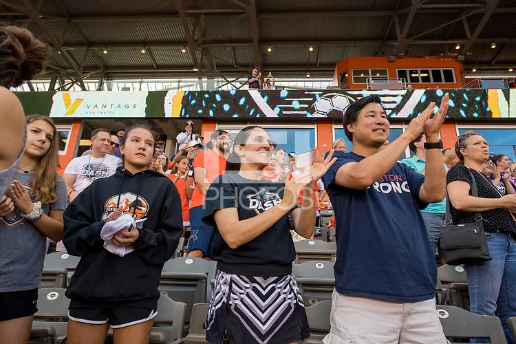Houston, TX - Sunday July 28, 2019: NWSL regular season match between the Houston Dash and Sky Blue FC at BBVA Stadium.