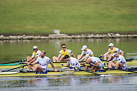Sarasota. Florida USA.  Bronze Medalist GBR M4- bow. Matthew<br /> ROSSITER, Mohamed SBIHI,  Matthew TARRANT, William SATCH,  2017 World Rowing Championships, Nathan Benderson Park<br /> <br /> Saturday  30.09.17   <br /> <br /> [Mandatory Credit. Peter SPURRIER/Intersport Images].<br /> <br /> <br /> NIKON CORPORATION -  NIKON D4S  lens  VR 500mm f/4G IF-ED mm. 200 ISO 1/2000/sec. f 4