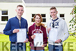 Paul Brosnan, Laura Courtney and Andrew Brosnan all Aghadoe received  their Leaving Cert results  in Killarney community College on wednesday