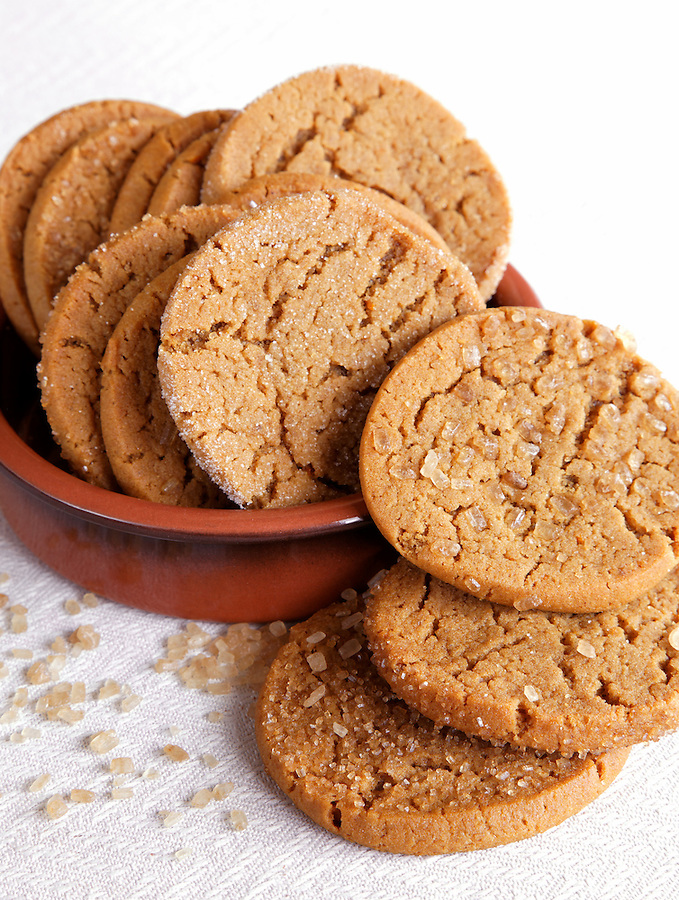 Bowl of Swedish ginger cookies, by pastry chef Laurie Pfalzer, Pastry Craft