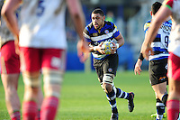 Taulupe Faletau of Bath Rugby in possession. Aviva Premiership match, between Bath Rugby and Harlequins on February 18, 2017 at the Recreation Ground in Bath, England. Photo by: Patrick Khachfe / Onside Images