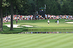 Tiger Woods (USA) playing into the 3rd green on day 1of the World Golf Championship Bridgestone Invitational, from Firestone Country Club, Akron, Ohio. 4/8/11.Picture Fran Caffrey www.golffile.ie