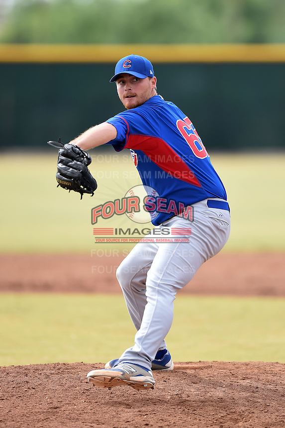 Chicago Cubs pitcher James Farris (65) during an Instructional League intersquad game on October 9, 2014 at Cubs Park Complex in Mesa, Arizona.  (Mike Janes/Four Seam Images)