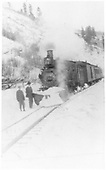RGS 4-6-0 #25 with passenger train.<br /> RGS
