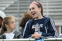 Piscataway, NJ - Sunday April 30, 2017: young fans during a regular season National Women's Soccer League (NWSL) match between Sky Blue FC and FC Kansas City at Yurcak Field.