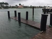 Flooding caused by Hurricane Irma in Miami Beach, Fla. on September 9, 2017.