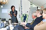 UTRECHT - Marieke van Rhijn, bestuurslid NGF. Forumdiscussie Speelkwaliteit in de golfsport. FOTO KOEN SUYK