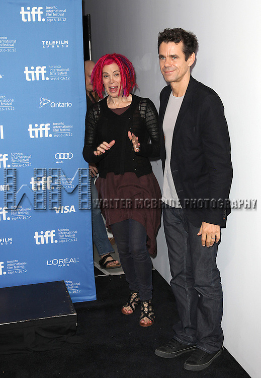 Lana Wachowski and Tom Tykwer attending the The 2012 Toronto International Film Festival.Photo Call for 'Cloud Atlas' at the TIFF Bell Lightbox in Toronto on 9/9/2012