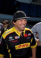Jun. 1, 2014; Englishtown, NJ, USA; NHRA funny car driver Del Worsham during the Summernationals at Raceway Park. Mandatory Credit: Mark J. Rebilas-