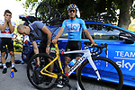 Gergio Luis Henao (COL) Team Sky ready for a morning training ride before Stage 1 of the La Vuelta 2018, an individual time trial of 8km running around Malaga city centre. Mijas, Spain. 23rd August 2018.<br /> Picture: Eoin Clarke | Cyclefile<br /> <br /> <br /> All photos usage must carry mandatory copyright credit (© Cyclefile | Eoin Clarke)