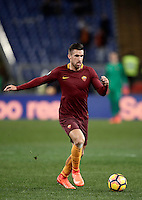 Calcio, Serie A: Roma, Stadio Olimpico, 7 febbraio 2017.<br /> Roma's Kevin Strootman in action during the Italian Serie A football match between AS Roma and Fiorentina at Roma's Olympic Stadium, on February 7, 2017.<br /> UPDATE IMAGES PRESS/Isabella Bonotto