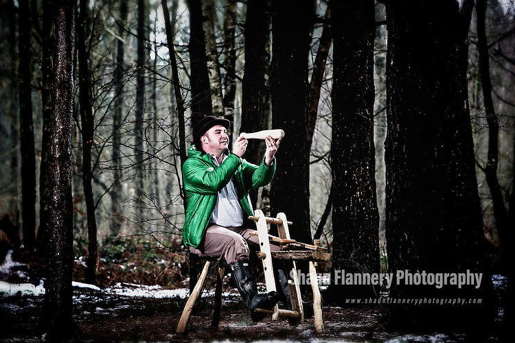 Pix: Shaun Flannery/shaunflanneryphotography.com...COPYRIGHT PICTURE>>SHAUN FLANNERY>01302-570814>>07778315553>>..6th February 2012……………Forestry Commission - 'The Jolly Bodgers of Sherwood Forest' .Sherwood Pines Forest Park..Craftsman Ian Major at work.