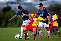 Action from the Chatham Cup second round Northern Football football match between Waitemata AFC and Central United at McLeod Park in Henderson, Auckland, New Zealand on Monday, 5 June 2017. Photo: Dave Lintott / lintottphoto.co.nz