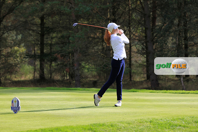 Mathilda Capelliez (FRA)  during the Mixed Fourballs during the 2014 JUNIOR RYDER CUP at the Blairgowrie Golf Club, Perthshire, Scotland. <br /> Picture:  Thos Caffrey / www.golffile.ie