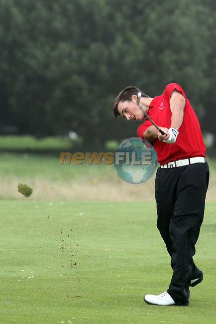 Henry James (WALES) on the 10th on the Final Day at the 2012 Boys Home Internationals at Co.Louth Golf Club in Baltray, Co.Louth...(Photo credit should read Jenny Matthews/NEWSFILE)...