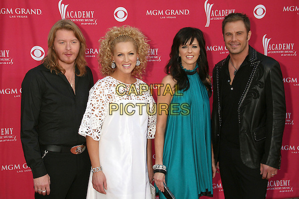 PHILLIP SWEET, KIMBERLEY ROADS, KAREN FAIRCHILD & JIMI WESTBROOK - LITTLE BIG TOWN .42nd Annual Academy Of Country Music Awards held at the MGM Grand Garden Arena, Las Vegas, Nevada, USA..May 15th, 2007.half length white dress turquoise black leather jacket shirt .CAP/ADM/BP.©Byron Purvis/AdMedia/Capital Pictures