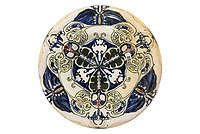 BNPS.co.uk (01202 558833)<br /> Pic: Duke's/BNPS<br /> <br /> A plate decorated porcelain plate<br /> <br /> A collection of pottery that belonged to late Blue Peter presenter John Noakes is being sold by his widow for around £10,000.<br /> <br /> The 29 pieces of Rozenburg porcelain were collected by the 1970s TV star right up until his death, three years ago in 2017.<br /> <br /> Since then they have been in the ownership of his wife Vicky who has now decided the time is right to put them on the market.