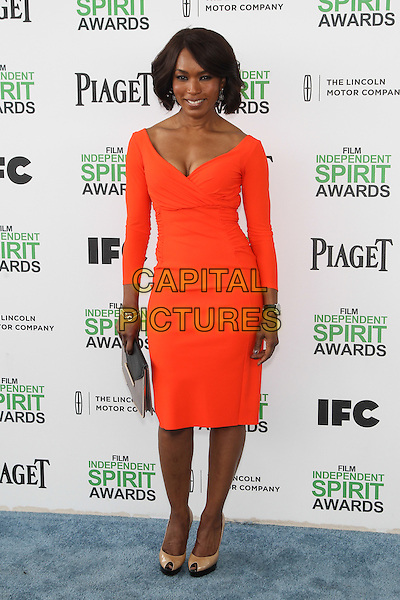SANTA MONICA, CA - MARCH 1: Angela Bassett attending the 2014 Film Independent Spirit Awards in Santa Monica, California on March 1st, 2014. Photo Credit: RTNUPA/MediaPunch<br /> CAP/MPI/RTNUPA<br /> &copy;RTNUPA/MediaPunch/Capital Pictures