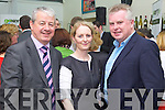 Pictured at the official launch of the gokerry.ie website on Friday in IT Tralee, from left: Conor Hennigan (The Malton Hotel, Killarney), Lorraine O?Mahony (Kerry County Council) and Pat Dawson (National Parks & Wildlife Service)..