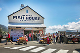 USA, Alaska, Ketchikan, exterior of the Alaska Fish House Restaurant