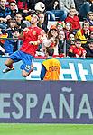 03.06.2010, Tivoli, Innsbruck, AUT, FIFA Worldcup Vorbereitung, Testspiel Spanien (ESP) vs Sued Korea (KOR), im Bild Kopfball Sergio Ramos ( ESP, #15 ).  Foto: nph /  J. Groder