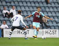 Burnley's Matthew Lowton battles with Preston North End's Callum Robinson<br /> <br /> Photographer Mick Walker/CameraSport<br /> <br /> Football Pre-Season Friendly - Preston North End  v Burnley FC  - Monday 23st July 2018 - Deepdale  - Preston<br /> <br /> World Copyright &copy; 2018 CameraSport. All rights reserved. 43 Linden Ave. Countesthorpe. Leicester. England. LE8 5PG - Tel: +44 (0) 116 277 4147 - admin@camerasport.com - www.camerasport.com