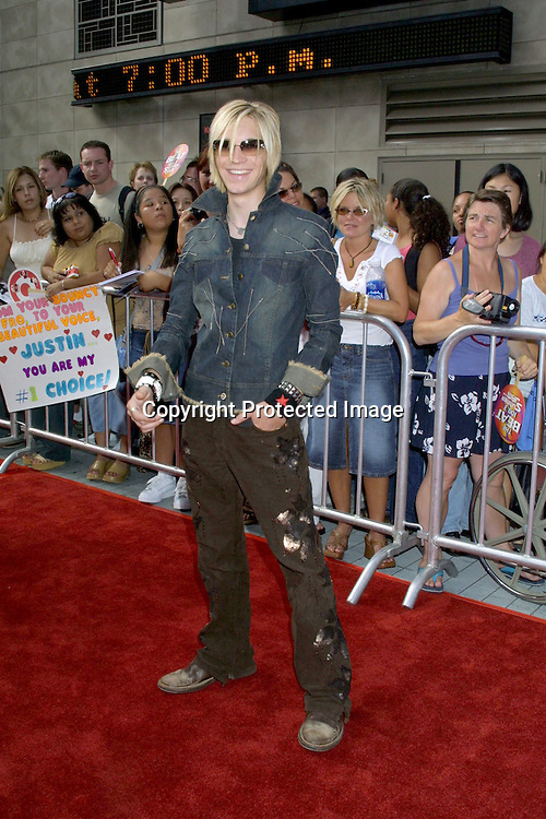 "©2002 KATHY HUTCHINS / HUTCHINS PHOTO .AMERICAN IDOL FINALS.AUGUST 4, 2002.KODAK THEATER .HOLLYWOOD, CA..ALEX BAND OF ""THE CALLING"""