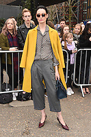 Erin O'Connor arrives for the Topshop Unique AW17 show as part of London Fashion Week AW17 at Tate Modern, London, UK. <br /> 19 February  2017<br /> Picture: Steve Vas/Featureflash/SilverHub 0208 004 5359 sales@silverhubmedia.com